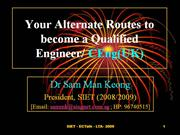 Your Alternate Routes to become a CEng