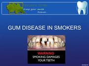 GUM DISEASE IN SMOKERS