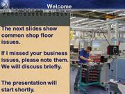 Manufacturing Shop Floor Issues With Paper