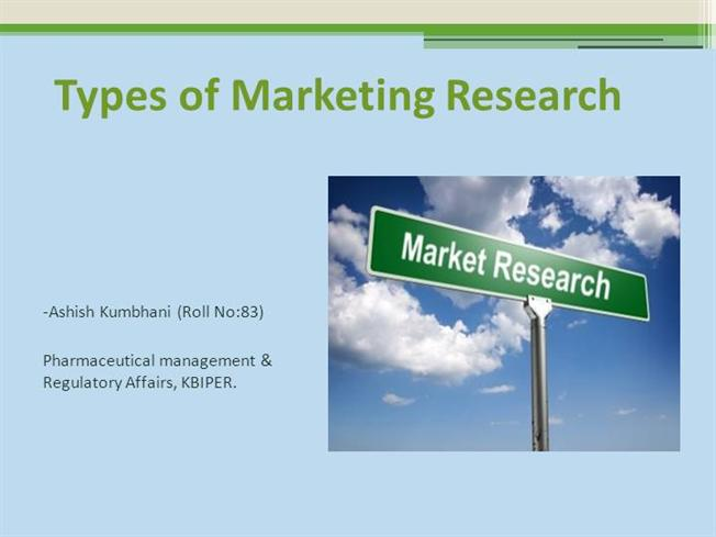 Types of Market Research |authorSTREAM
