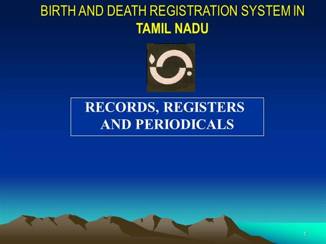 Birth & Death - Corporation of Chennai |authorSTREAM