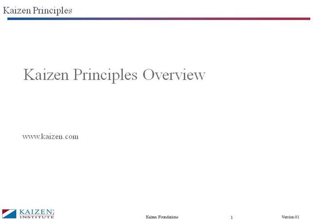 Kaizen Principles |authorSTREAM