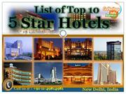 Best New Delhi 5 Star Hotels Catalogue