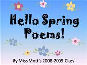 HELLO SPRING POEMS