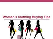 Women' Clothing Buying Tips