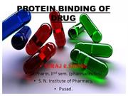 PROTEIN BINDING OF DRUG