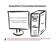 Theory II PowerPoint Presentation