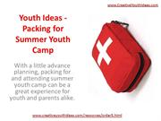 Youth Ideas - Packing for Summer Youth Camp