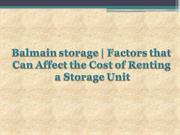 Factors that Can Affect the Cost of Renting a Storage Unit