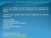 MY GP Cloud - Microsoft Dynamics Online Business Software and Reportin