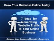 7 Ideas  for Generating Website Traffic to Your Online Business
