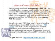 How to Create PDF Files