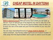 cheap motel in daytona