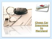 cheap car insurance in maryland