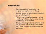 online shopping on credit