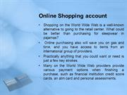 Online Shopping account