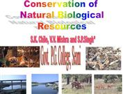 Conservation natures wealth