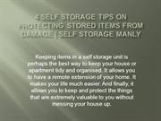 4 Self Storage Tips on Protecting Stored Items from Damage