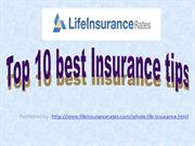 Top 10 best Insurance tips