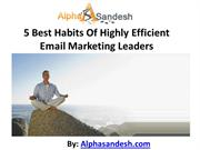 5 Best Habits Of Highly Efficient Email Marketing Leaders