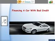 Financing A Car with Bad Credit