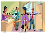 A Brief History of Manners FCAT 2