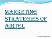 Marketing Strategies of Airtel