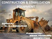 CONSTRUCTION & STABILIZATION EQUIPMENT