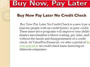 buy now pay later no credit check Home Screen: One