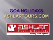 Goa Holidays – Ashlar Tours & Travels