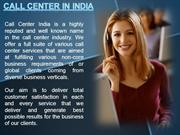Non voice support services offered by call center india
