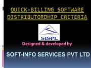 Distributor Presentation of Quick Billing