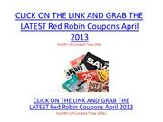 Red Robin Coupons April 2013 - Red Robin Coupons April 2013