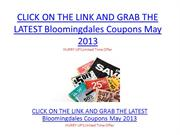 Bloomingdales Coupons May 2013 - Bloomingdales Coupons May 2013