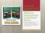 WoW Leveling Guide Review WoW Mist of Pandaria Dugi Leveling Guide