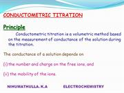 Conductometric titration nihumathulla
