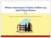 PD207-Insurance Claims Follow-up and Claim Status