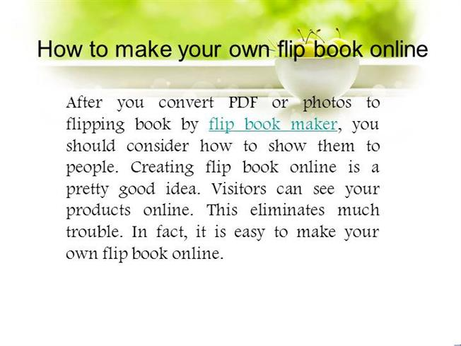 how to make your own flip book online authorstream