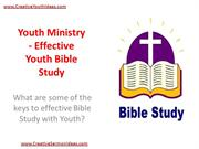 Youth Ministry - Effective Youth Bible Study