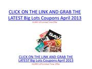 Big Lots Coupons April 2013 - Big Lots Coupons April 2013