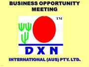 AUS BOM - DXN BUSINESS PRESENTATION