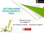 High-voltage Inverter Industry in China