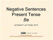 negative sentences present be