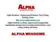 Alpha Windows - Replacement Windows