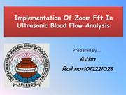 ZOOM FFT IN BLOOD FLOWANALYSIS