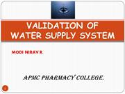 water system validation by Nirav