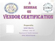 vendor certification BY Nirav