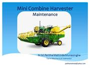 Mini Combine Harvester Maintenance
