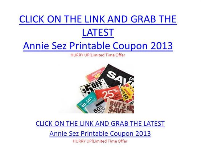 picture relating to The Limited Printable Coupon identify Annie Sez Printable Coupon 2013 - Annie Sez Printable Coupon