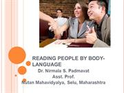READING PEOPLE BY BODY-LANGUAGE